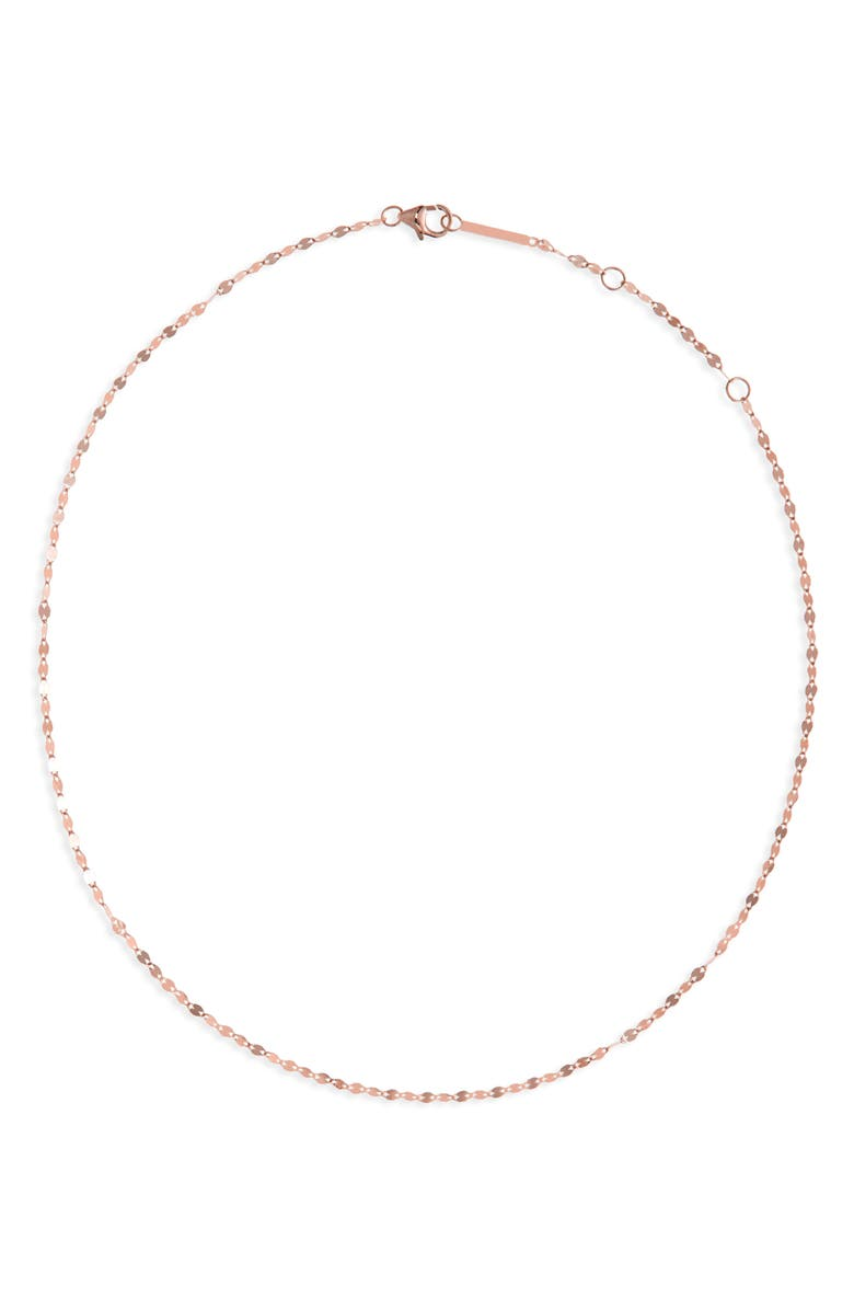 LANA JEWELRY Blake Chain Choker Necklace, Main, color, ROSE GOLD