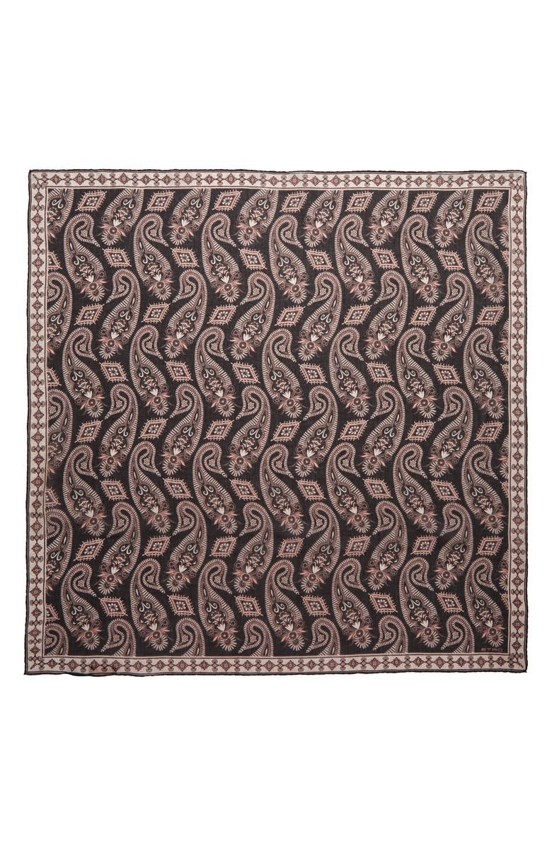 ETRO Foulard Jodhpur Square Scarf, Main, color, 001
