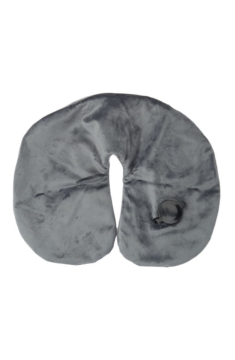 NORDSTROM RACK Inflatable Neck Pillow, Main, color, GREY