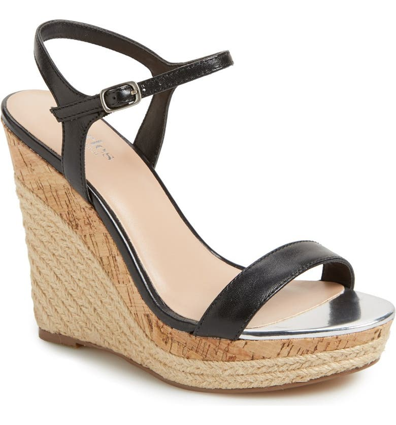 CHARLES BY CHARLES DAVID 'Alabama' Espadrille Wedge Sandal, Main, color, 001