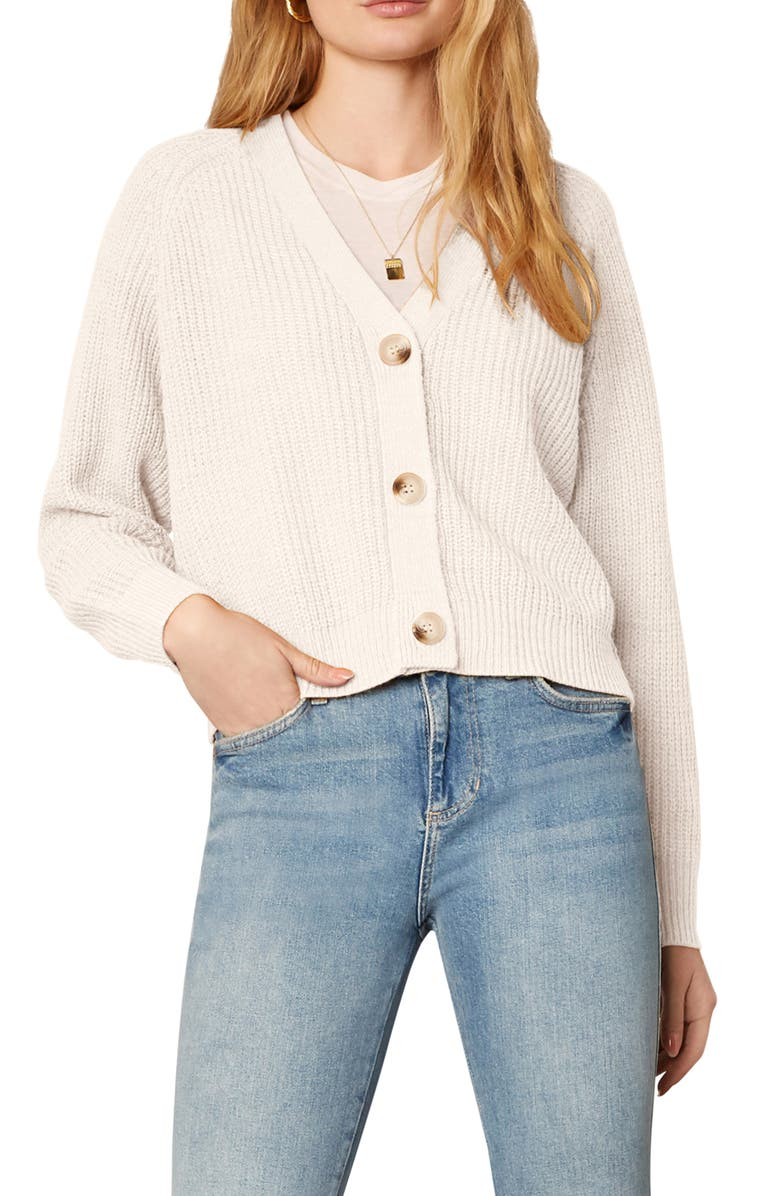 CUPCAKES AND CASHMERE Swift Cardigan, Main, color, BIRCH WHITE