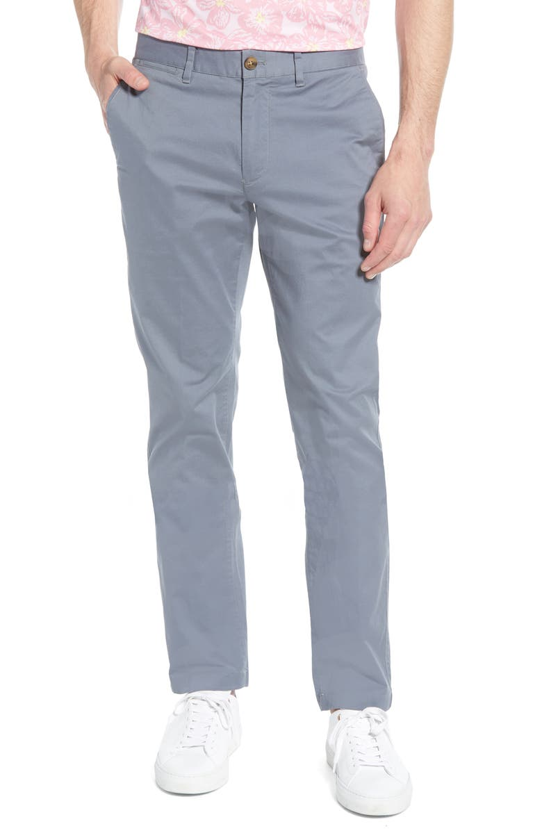 BONOBOS Summer Weight Slim Fit Stretch Chinos, Main, color, MONUMENT