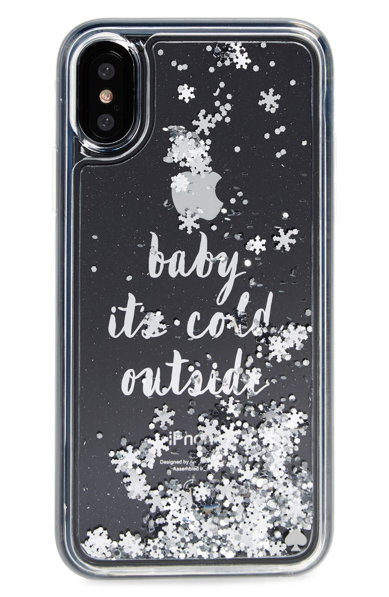 KATE SPADE NEW YORK baby it's cold outside iPhone X case, Main, color, 040