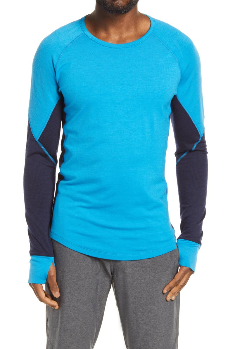 ICEBREAKER 260 Zone Tech Merino Wool Crewneck Base Layer Top, Main, color, 452