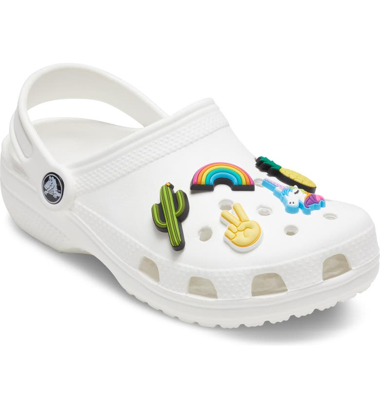 CROCS<SUP>™</SUP> Fun Trend Assorted 5-Pack Shoe Charms, Main, color, WHITE