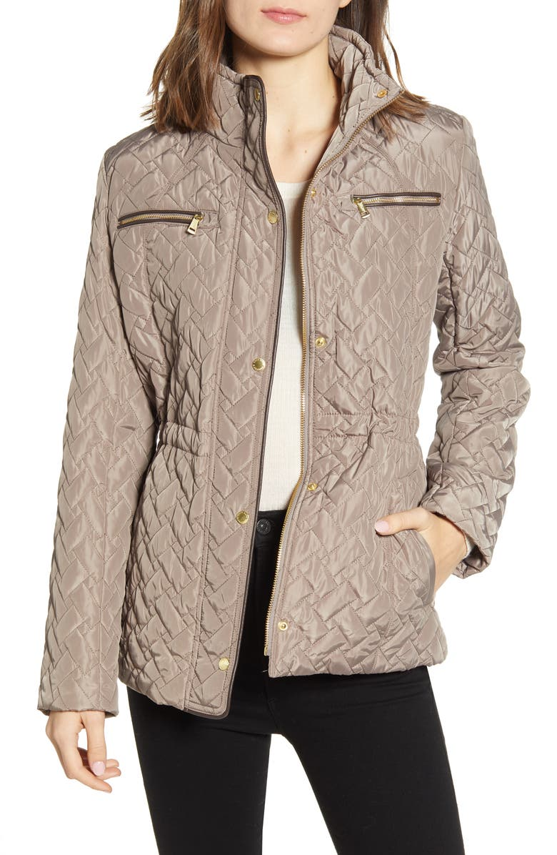 COLE HAAN SIGNATURE Quilted Jacket, Main, color, CASHEW