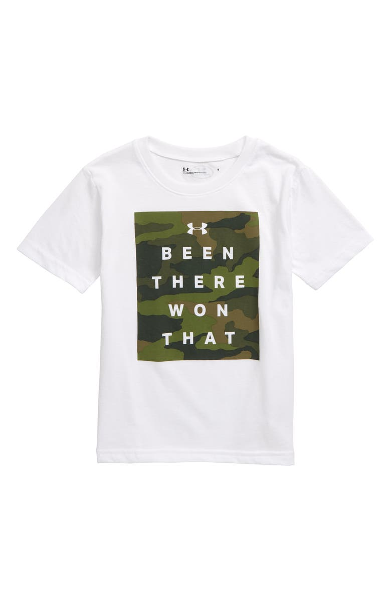 UNDER ARMOUR Been There, Won That HeatGear<sup>®</sup> T-Shirt, Main, color, 100