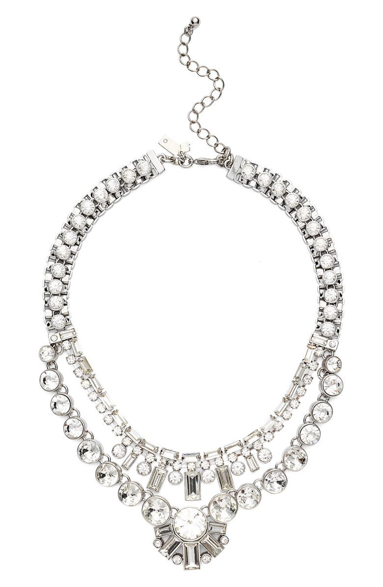 KATE SPADE NEW YORK 'clink of ice' multilayered necklace, Main, color, WHITE