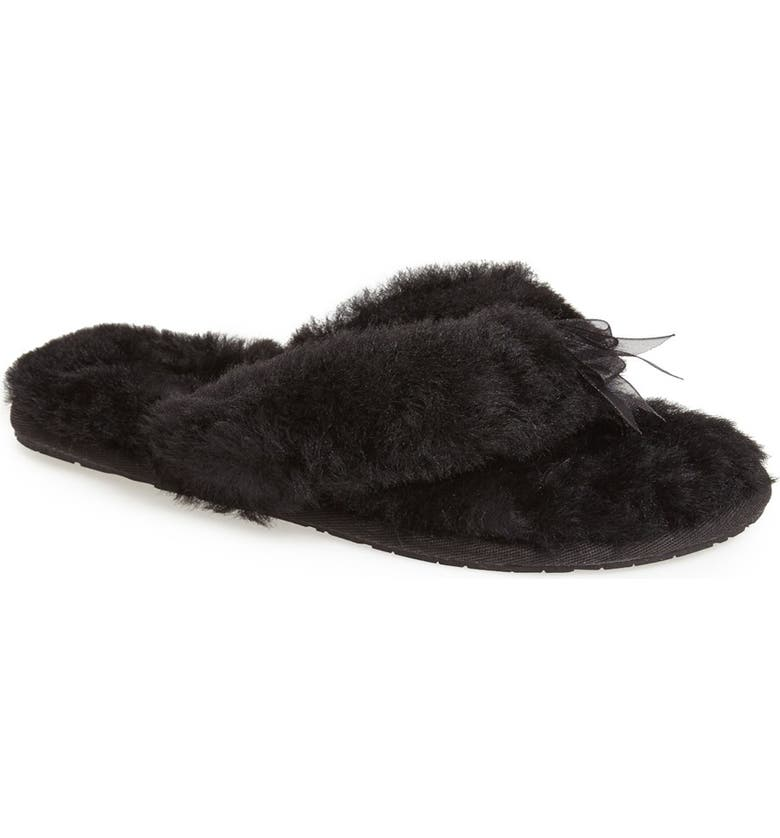 UGG<SUP>®</SUP> 'Fluff II' Flip Flop, Main, color, 001