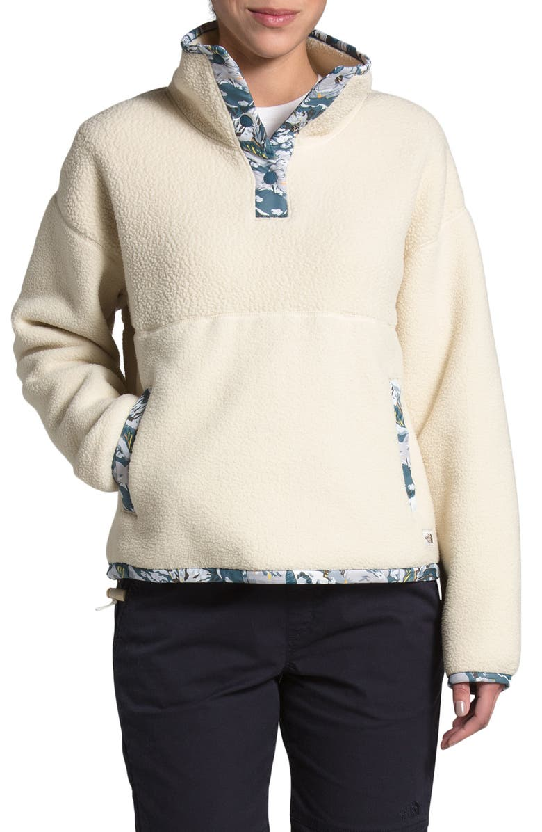 THE NORTH FACE Liberty Quarter Snap Pullover, Main, color, BLEACHED SAND