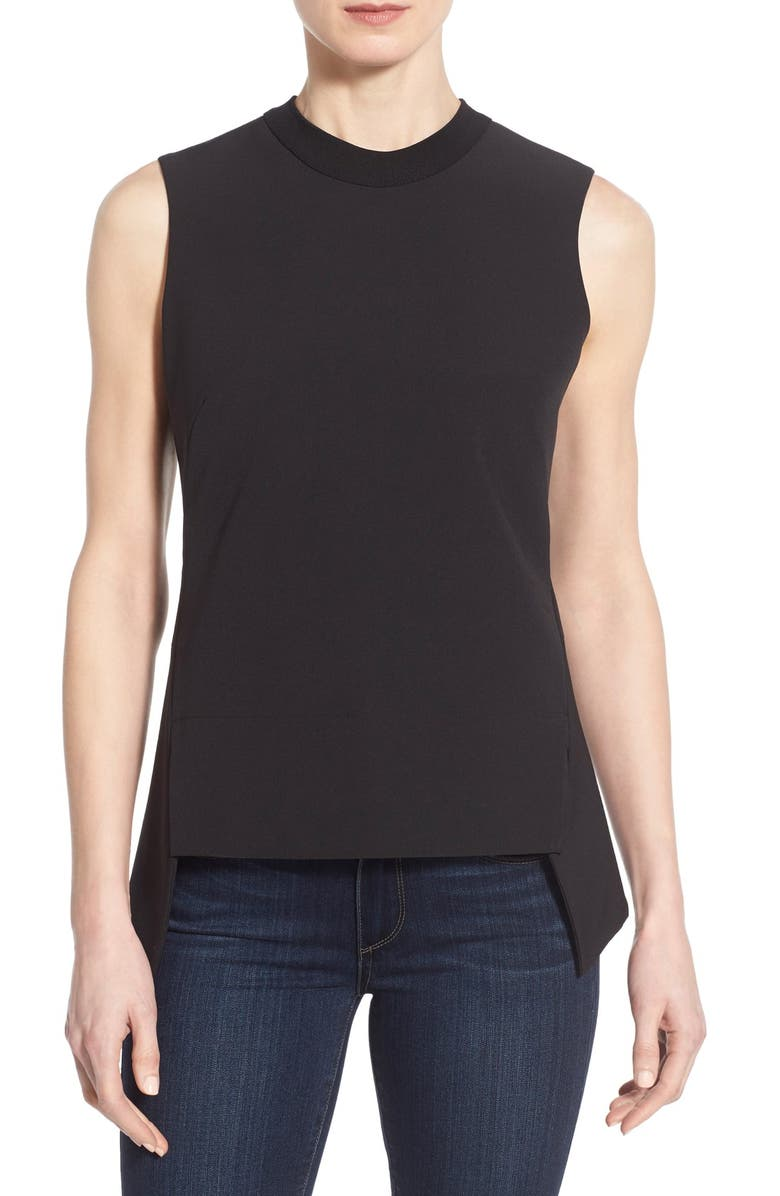 HALOGEN<SUP>®</SUP> Structured Sleeveless Top, Main, color, 001