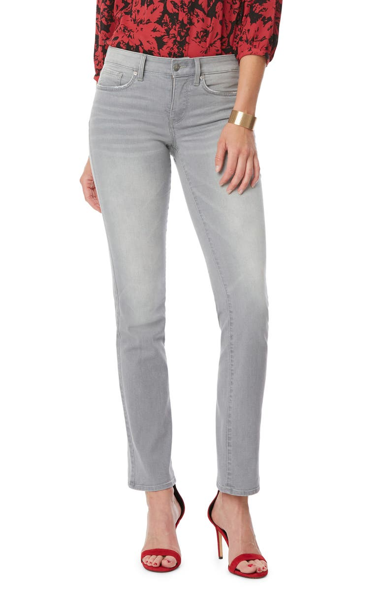 NYDJ Marilyn Straight Leg Jeans, Main, color, GRACE