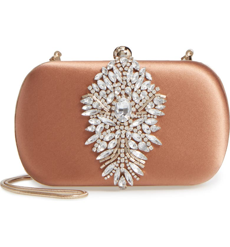 BADGLEY MISCHKA COLLECTION Badgley Mischka Aurora Clutch, Main, color, 242