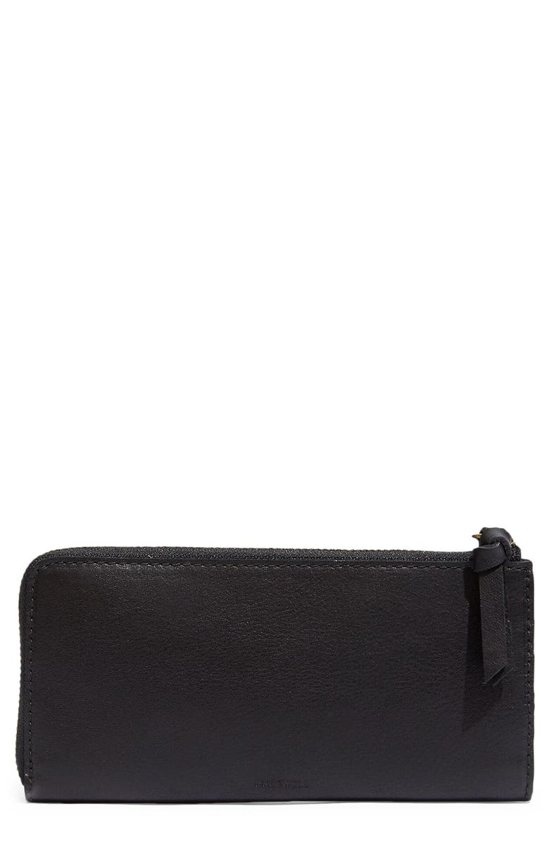 MADEWELL The Continental Zip Wallet, Main, color, TRUE BLACK