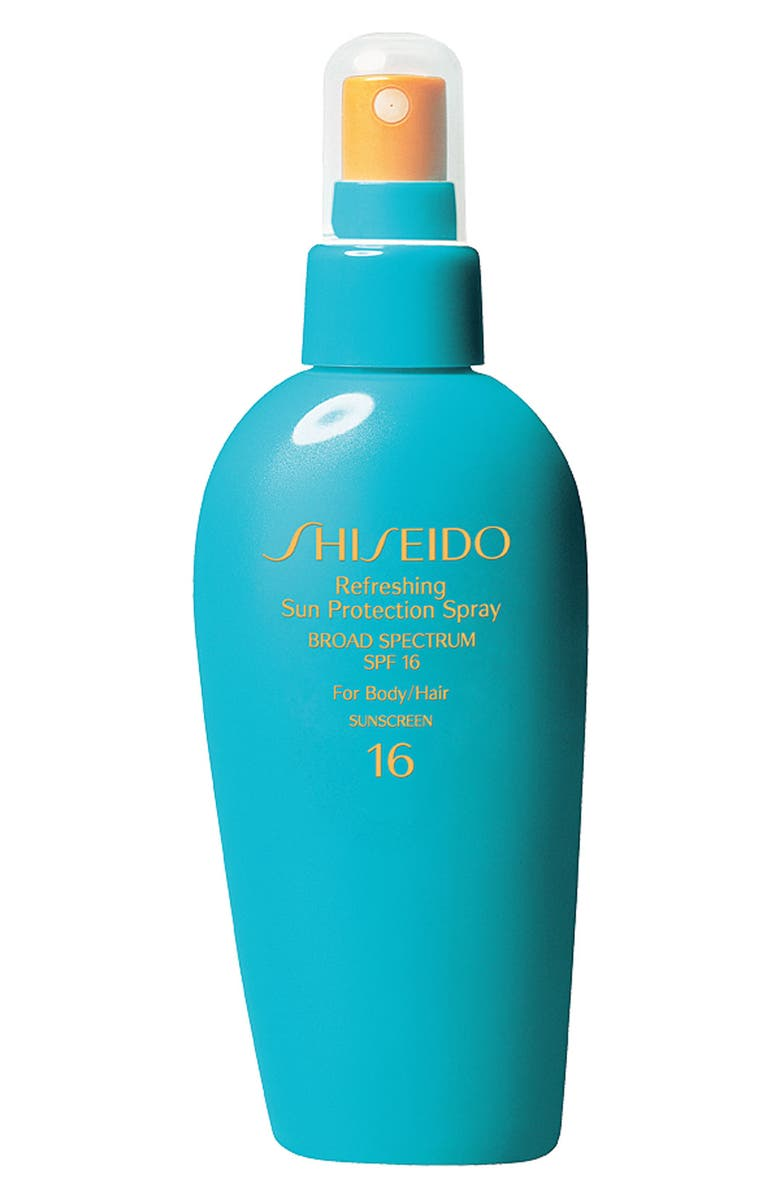 SHISEIDO Refreshing Sun Protection Spray for Body & Hair Broad Spectrum SPF 16, Main, color, 000