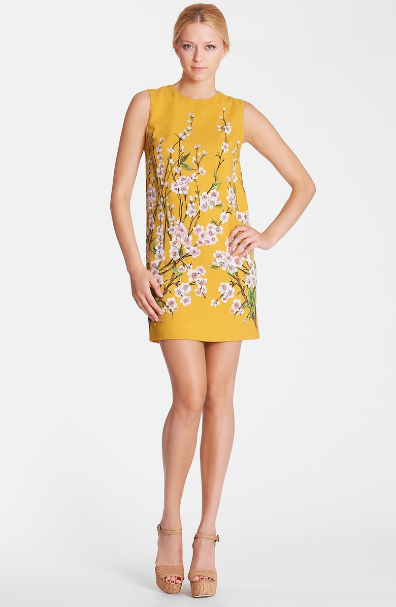 DOLCE&GABBANA Floral Print Shift Dress, Main, color, 730
