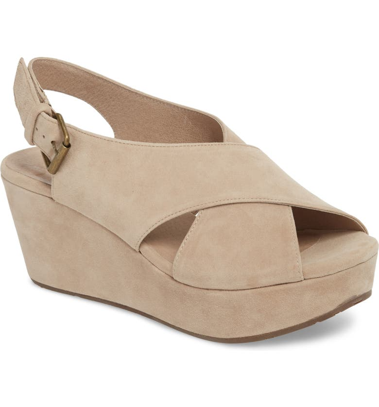CHOCOLAT BLU Wim Platform Wedge Sandal, Main, color, TAUPE SUEDE