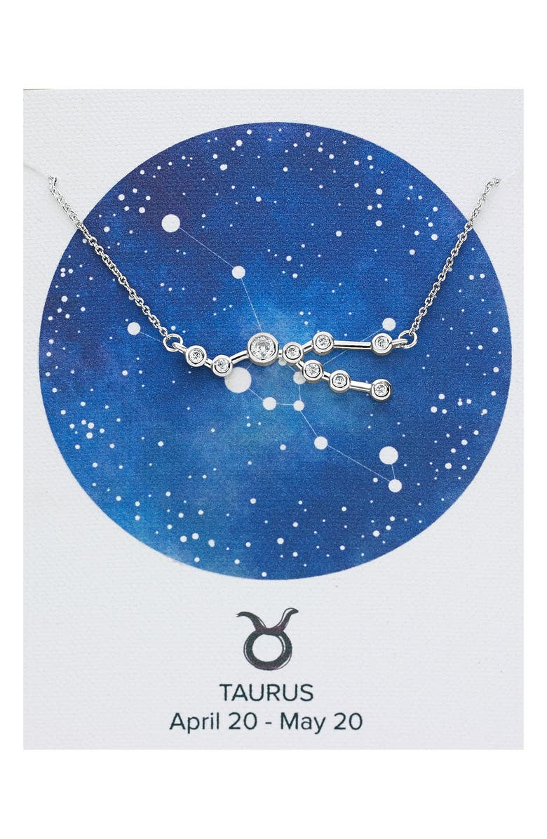 STERLING FOREVER Constellation Necklace, Main, color, SILVER - TAURUS