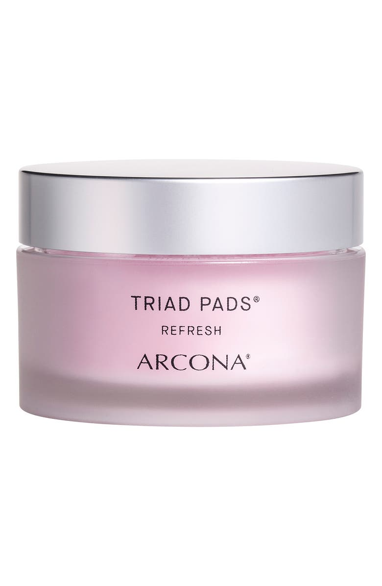 ARCONA Triad Pads Refresh Facial Toner Pads, Main, color, No Color