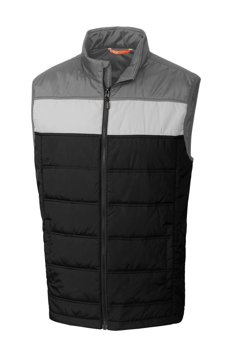 CUTTER AND BUCK Thaw Insulated Packable Vest, Main, color, BLACK