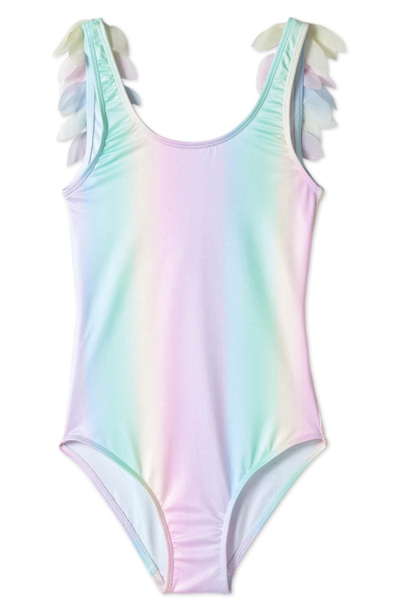 STELLA COVE Rainbow Petals One-Piece Swimsuit, Main, color, 650