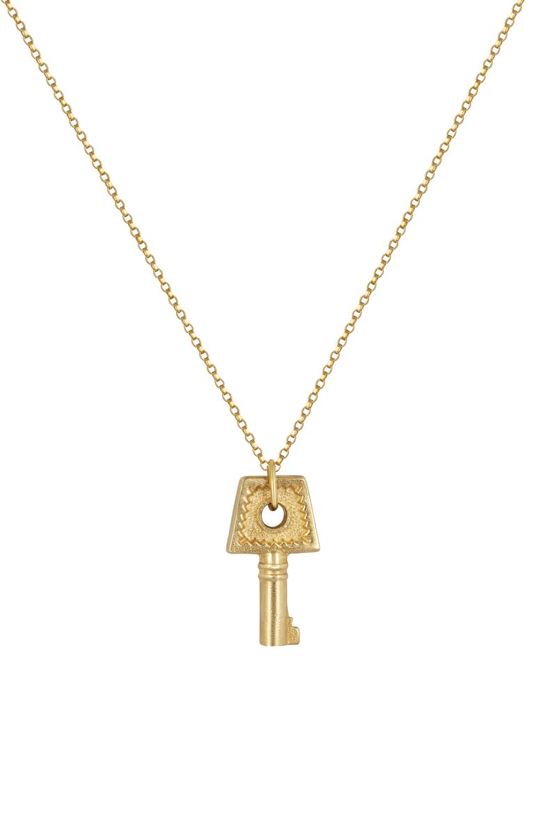 ELECTRIC PICKS Key Note Necklace, Main, color, Gold