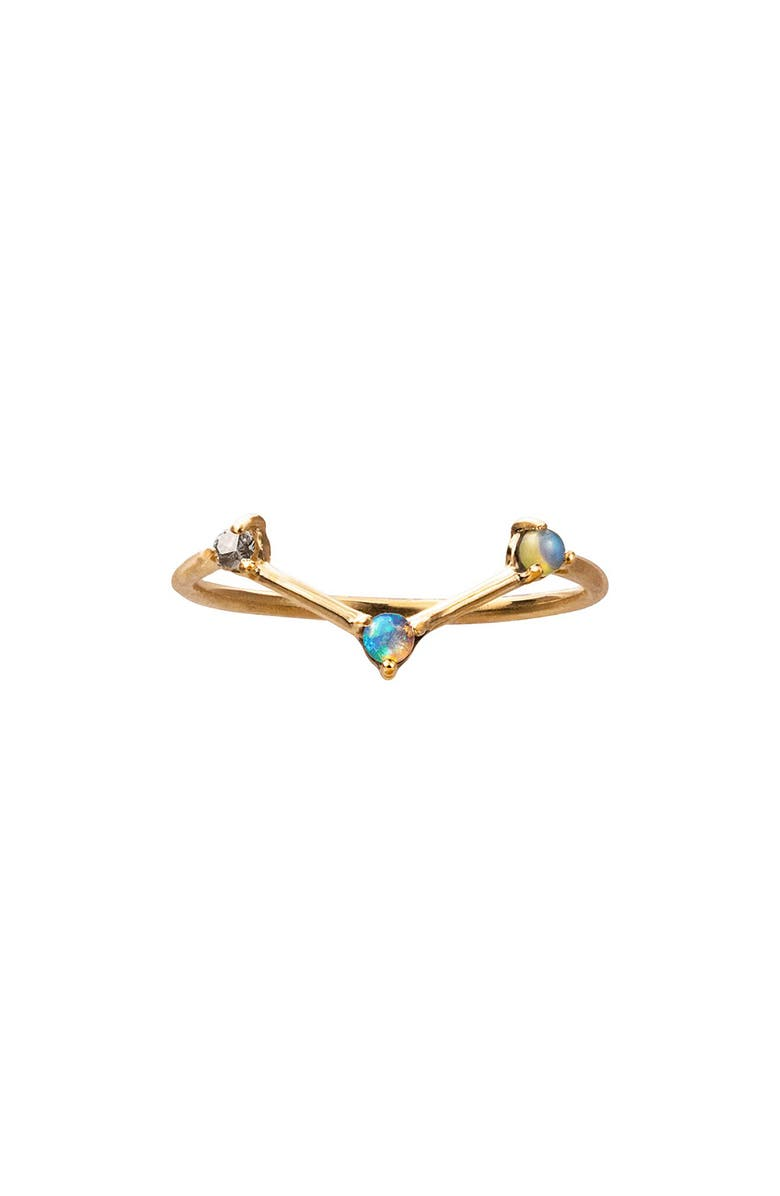WWAKE Counting Collection Three-Step Triangle Diamond & Opal Ring, Main, color, 710