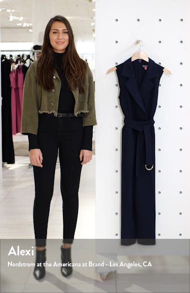 Notch Lapel Belted Jumpsuit, sales video thumbnail