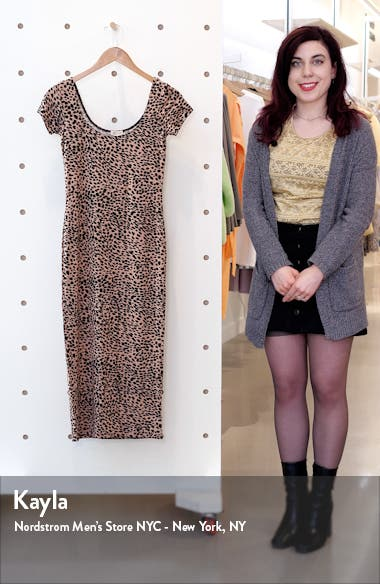 Mid Day Cheetah Print Body-Con Midi Dress, sales video thumbnail