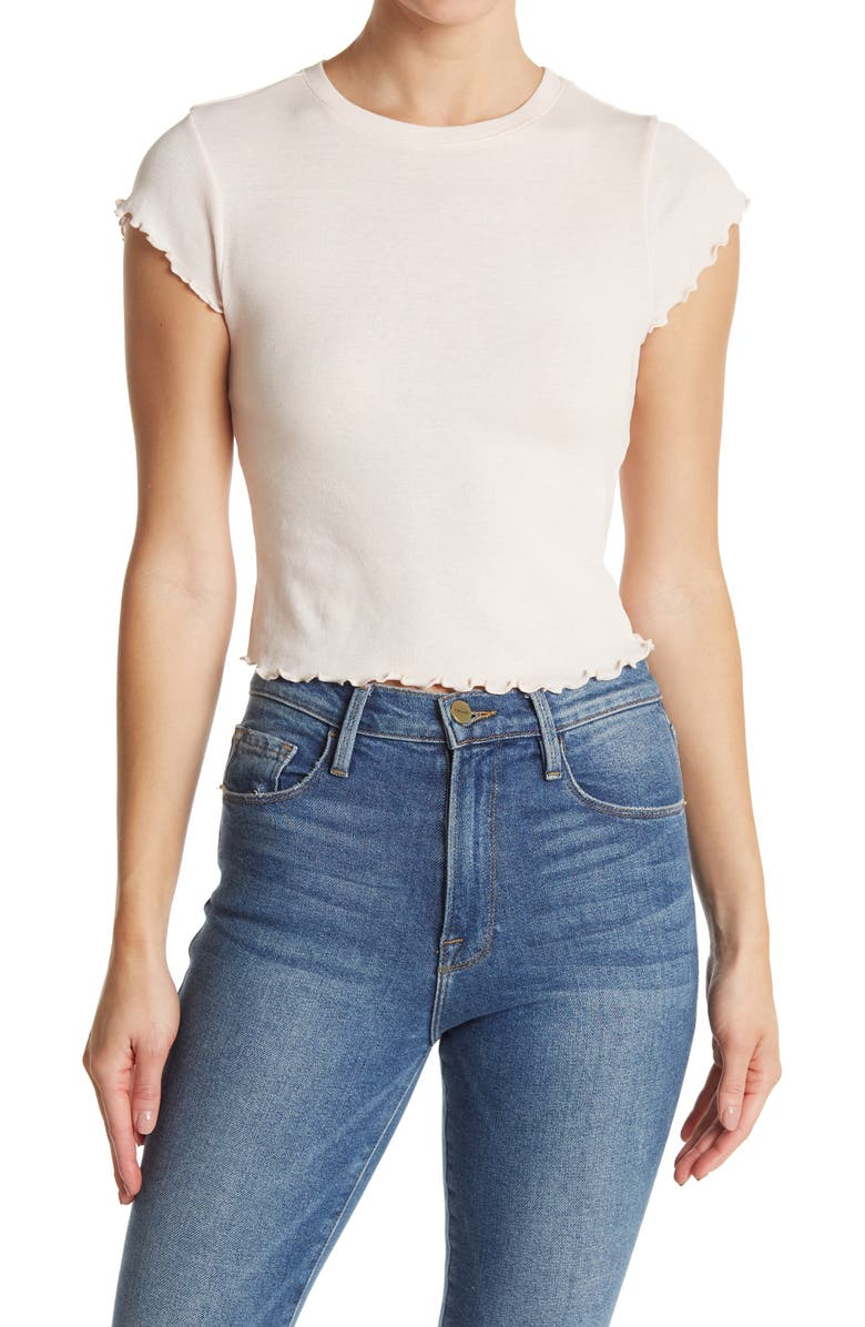 BP. Ribbed Baby Tee, Main, color, PINK CREOLE