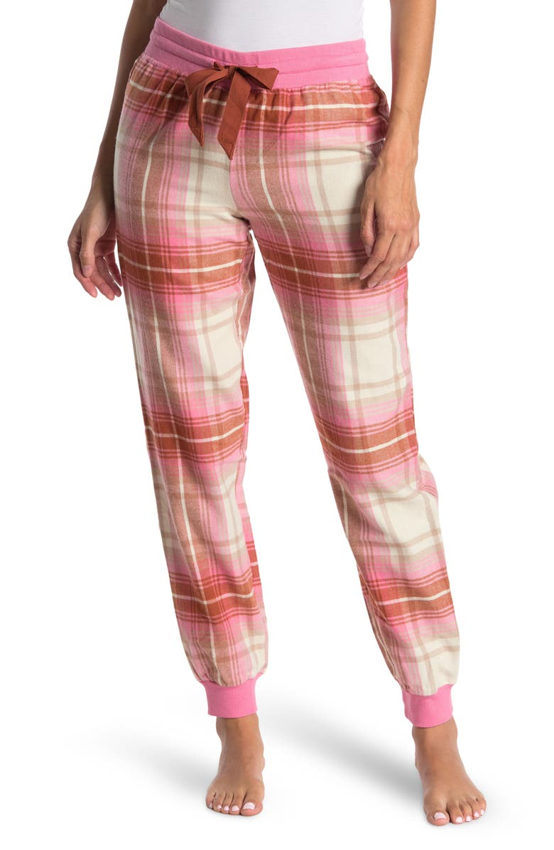 ABOUND Flannel Joggers, Main, color, PINK CHATEAU SCARF TARTAN