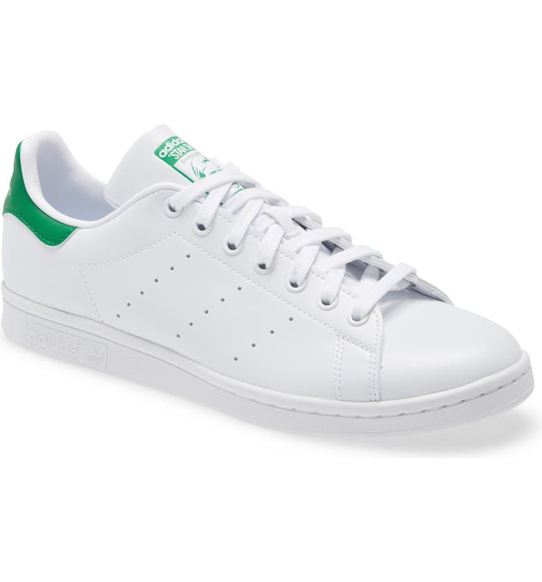 ADIDAS Stan Smith Low Top Sneaker, Main, color, WHITE/ WHITE/ GREEN