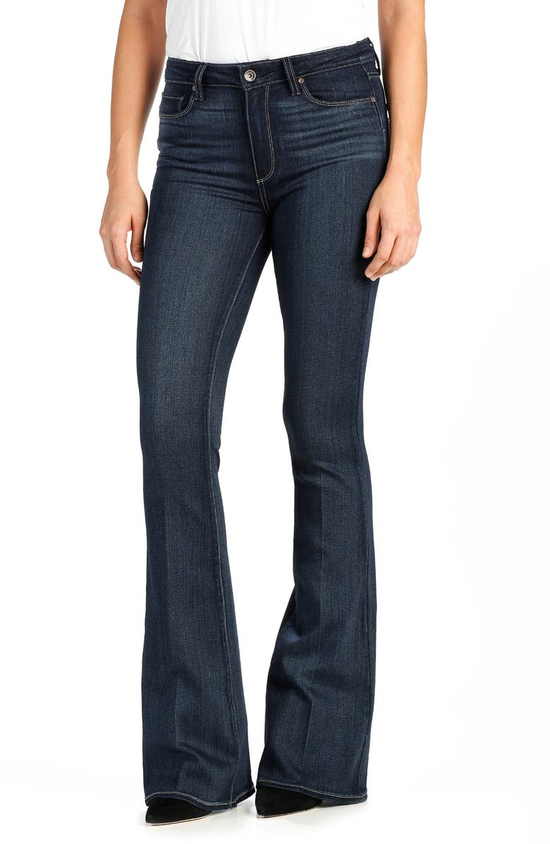PAIGE Transcend - Bell Canyon High Rise Flare Jeans, Main, color, 400