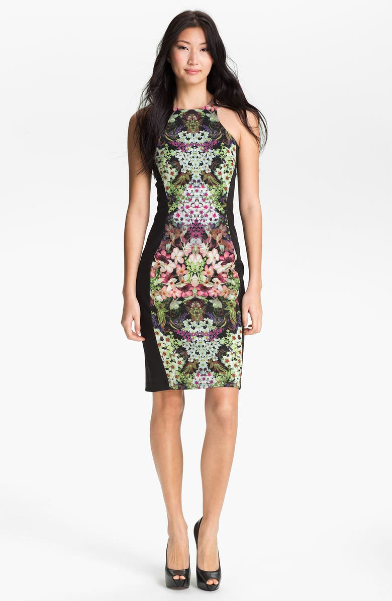 MAGGY LONDON Print Sheath Dress, Main, color, 013