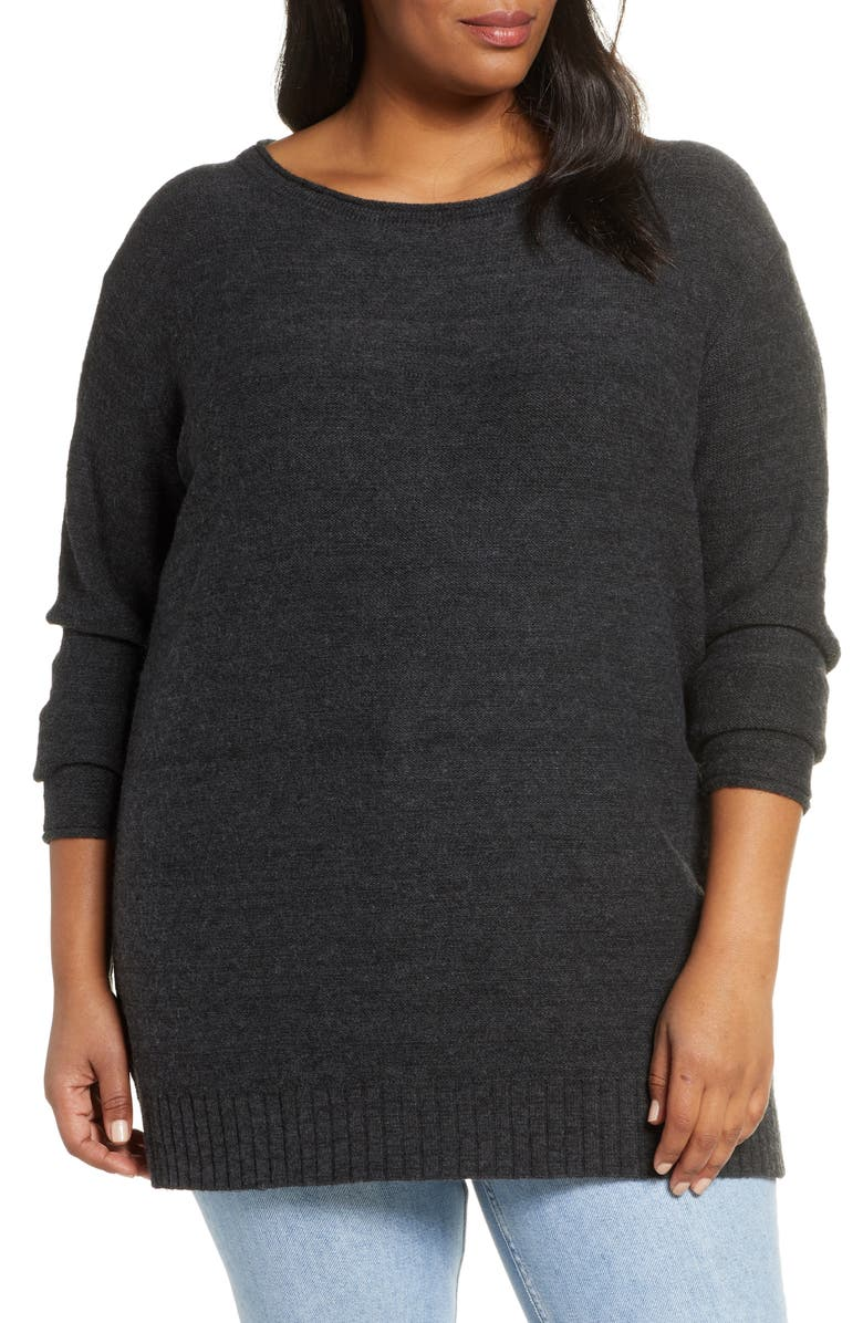 CASLON<SUP>®</SUP> Tunic Sweater, Main, color, 021