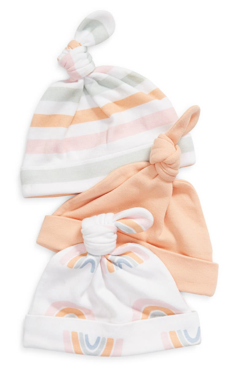 NORDSTROM 3-Pack Knotted Hats, Main, color, RAINBOW PACK