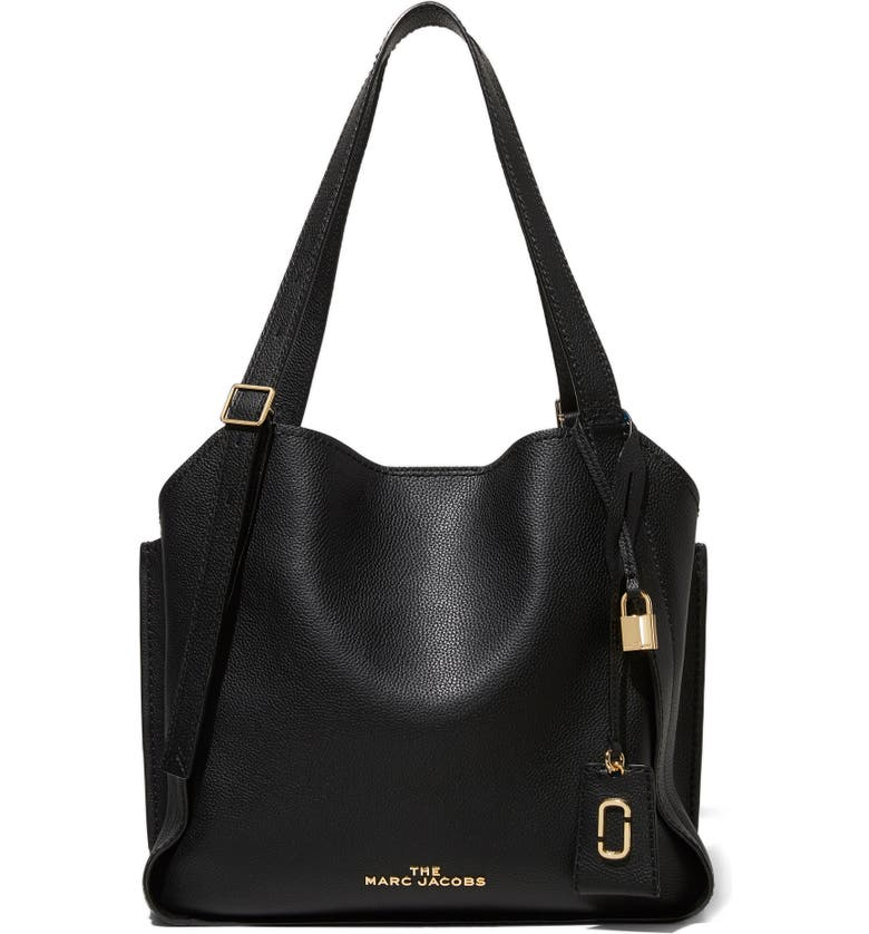 MARC JACOBS The Director Leather Tote, Main, color, BLACK