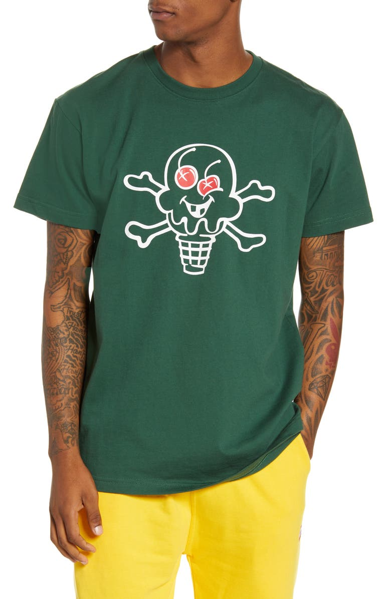 ICECREAM Cone and Bone Graphic T-Shirt, Main, color, 301