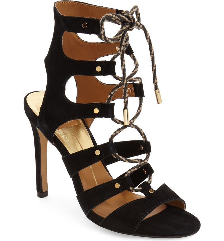 DOLCE VITA 'Howie' Lace-Up Sandal, Main, color, 001