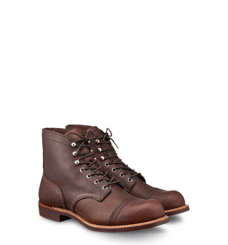 RED WING Iron Ranger Cap Toe Boot, Main, color, AMBER HARNESS LEATHER