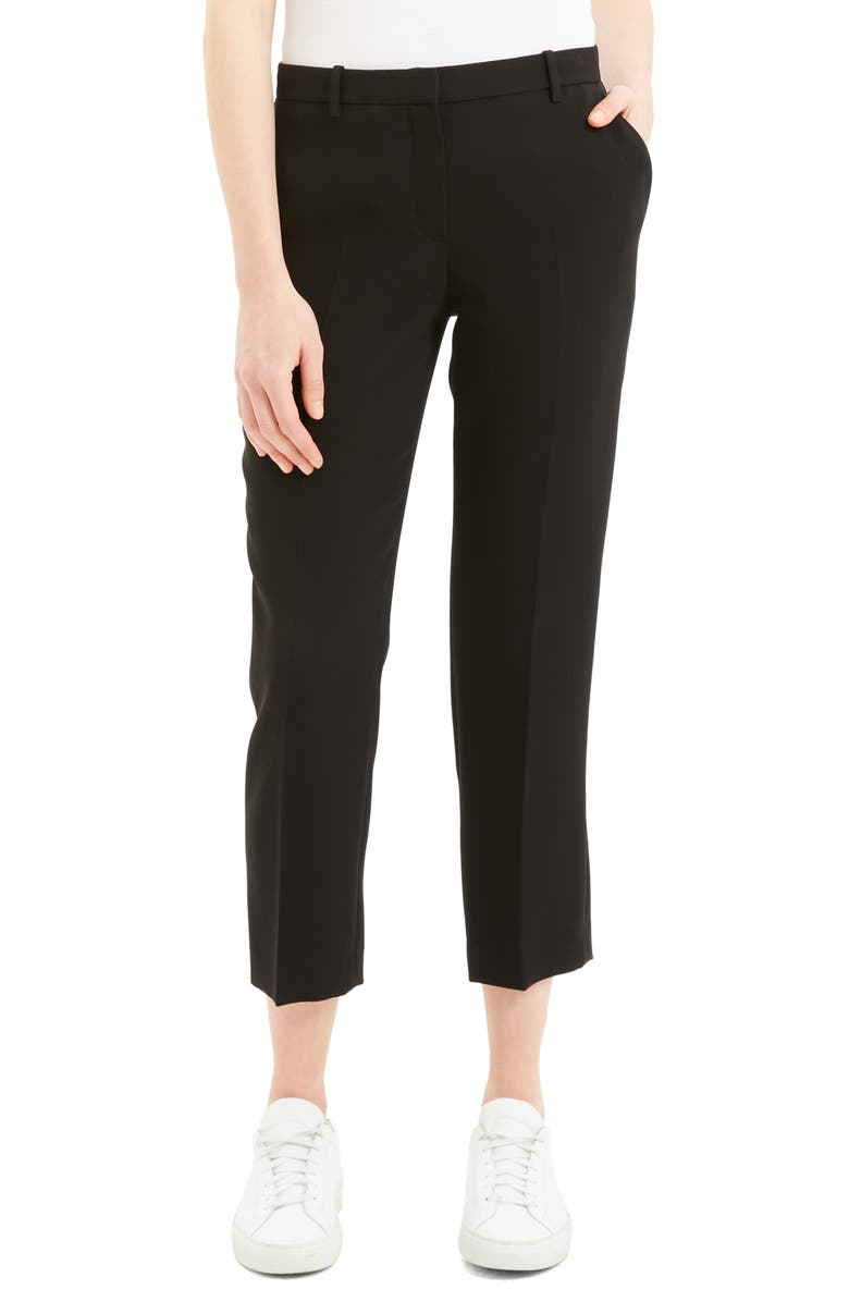 THEORY Tailored Ankle Trousers, Main, color, 001