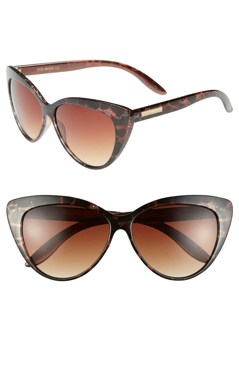 STEVE MADDEN 59mm Cat Eye Sunglasses, Main, color, 200