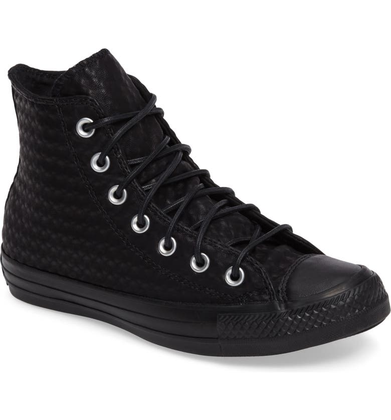 CONVERSE Chuck Taylor<sup>®</sup> All Star<sup>®</sup> High Top Sneaker, Main, color, 001