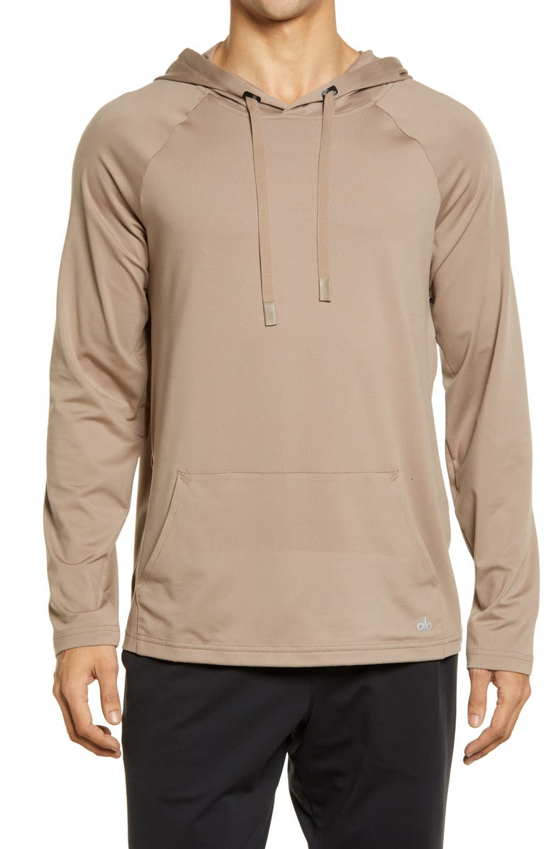 ALO Conquer Hoodie, Main, color, GRAVEL