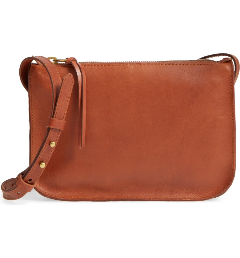 MADEWELL The Simple Leather Crossbody Bag, Main, color, ENGLISH SADDLE