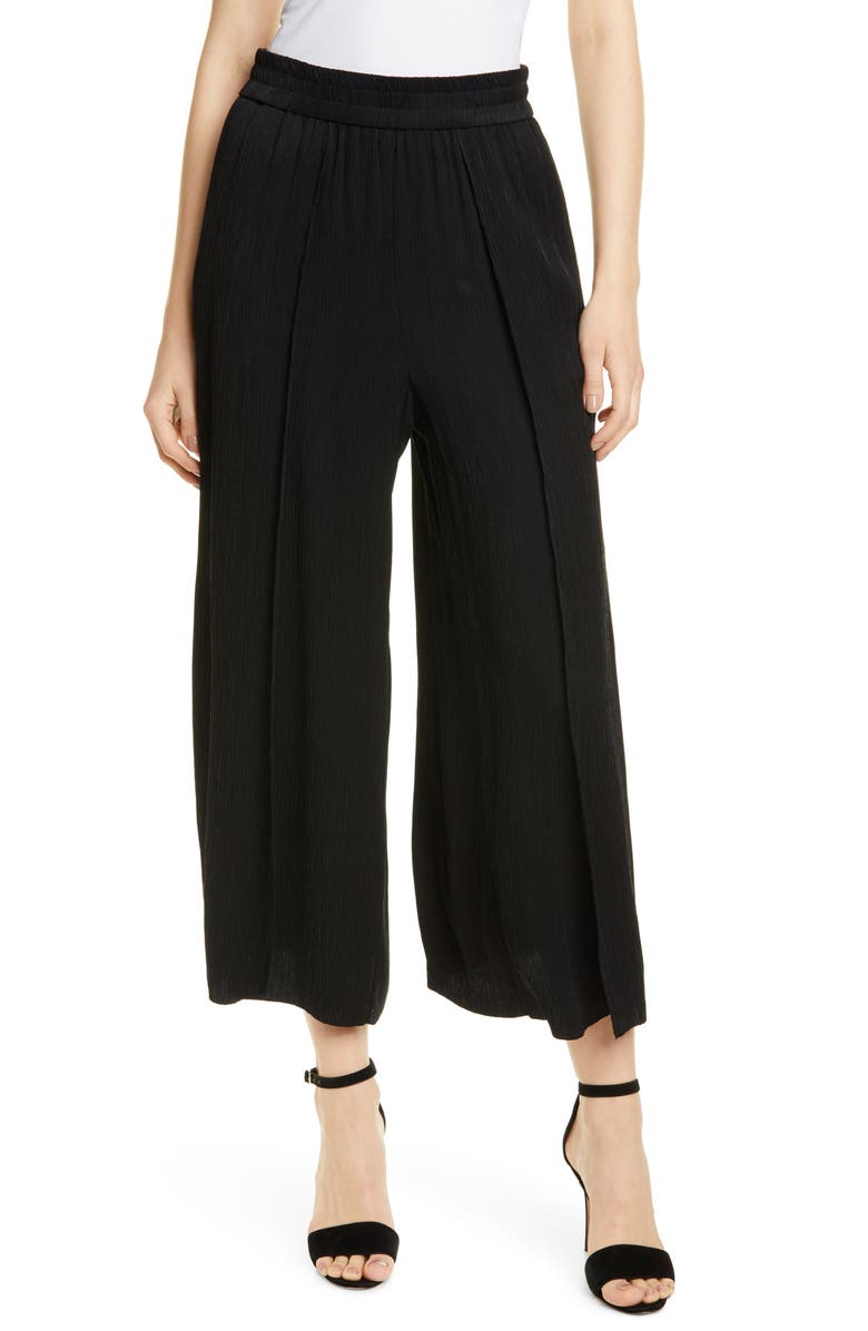 ALICE + OLIVIA Elba Wide Leg Ankle Pants, Main, color, 001