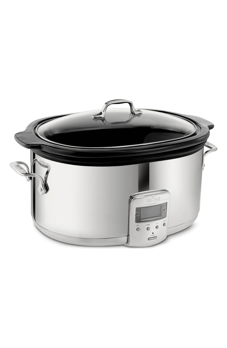 ALL-CLAD 6 1/2-Quart Slow Cooker with Black Ceramic Insert, Main, color, 040
