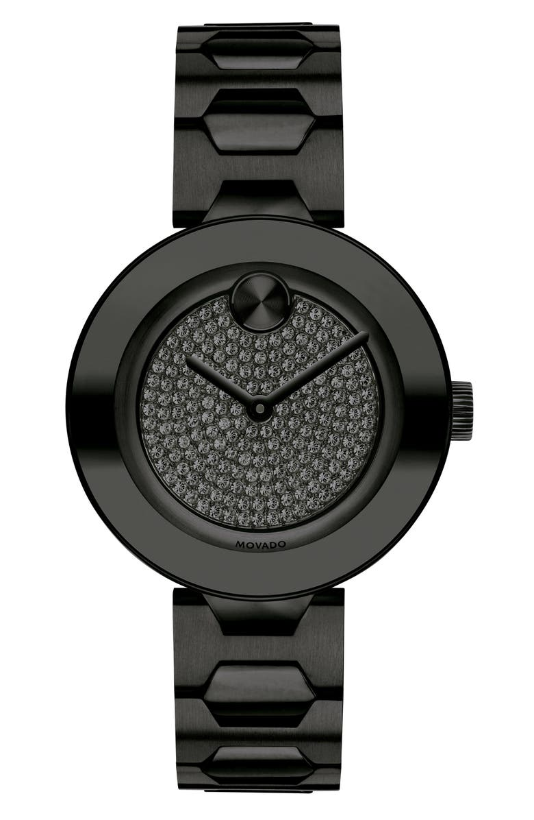 MOVADO Bold Pavé T-Bar Bracelet Watch, 32mm, Main, color, 005