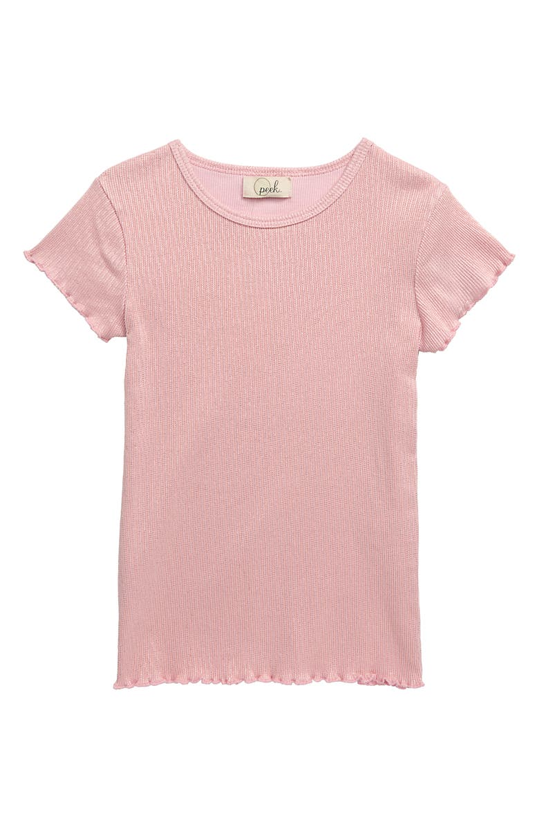 PEEK ARENT YOU CURIOUS Shimmer Tee, Main, color, PINK