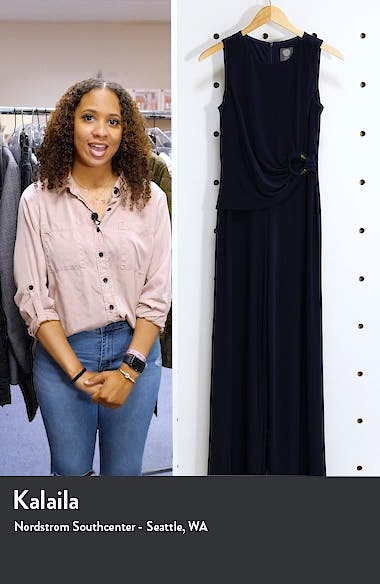Sleeveless Ruched Waist Jumpsuit, sales video thumbnail